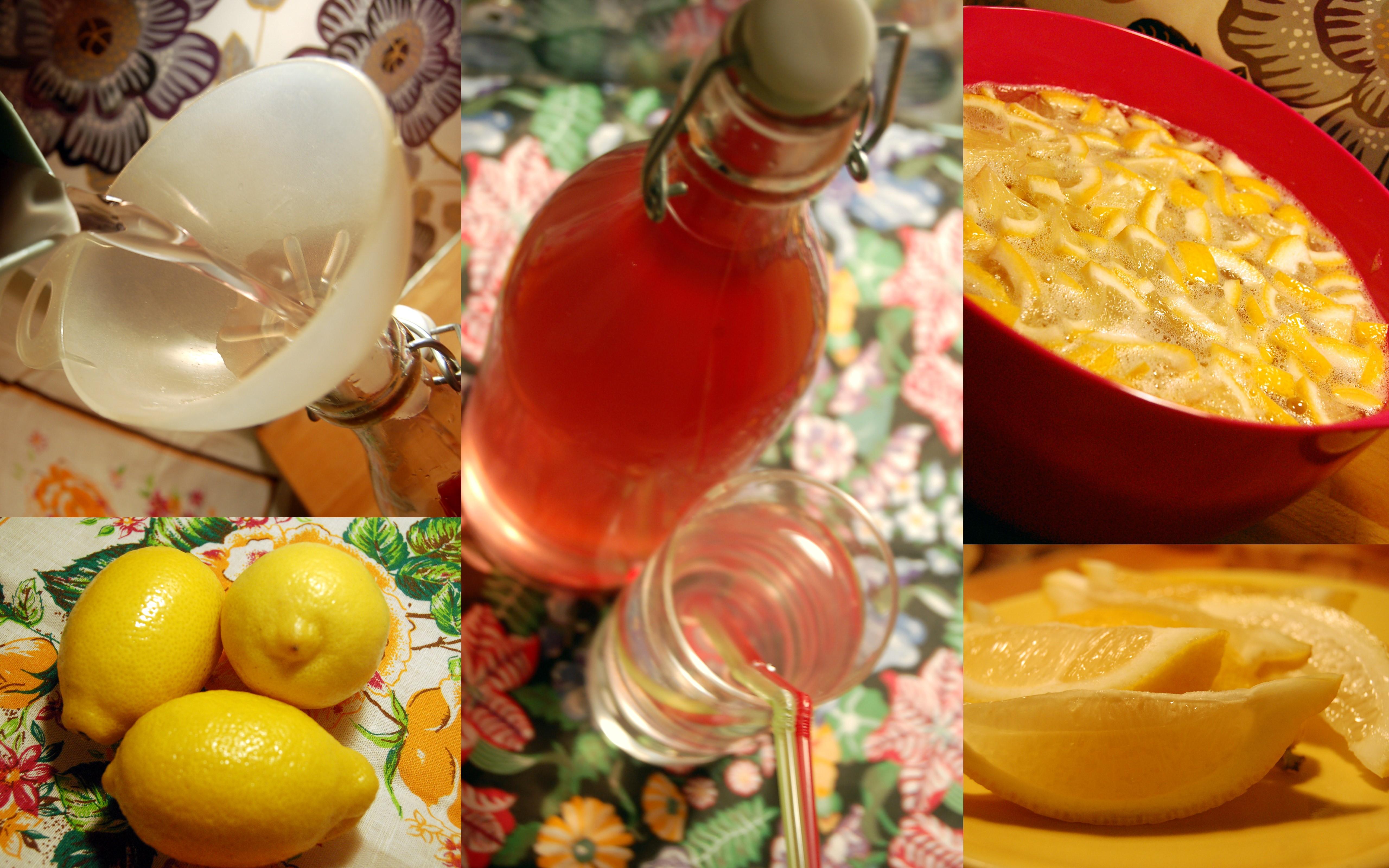 Rosa lemonad recept