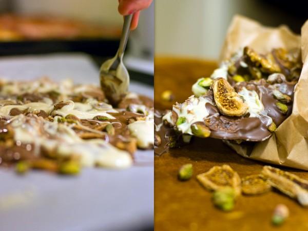 Bräck med nötter och fikon.