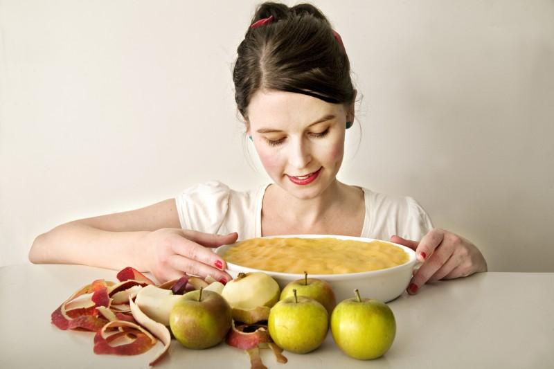 Recept på knäckig äppelkaka