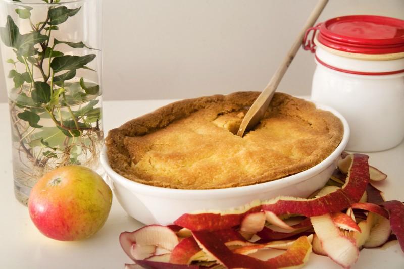 Knäckig äppelkaka