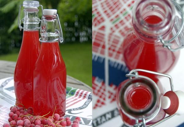 saft på röda vinbär recept