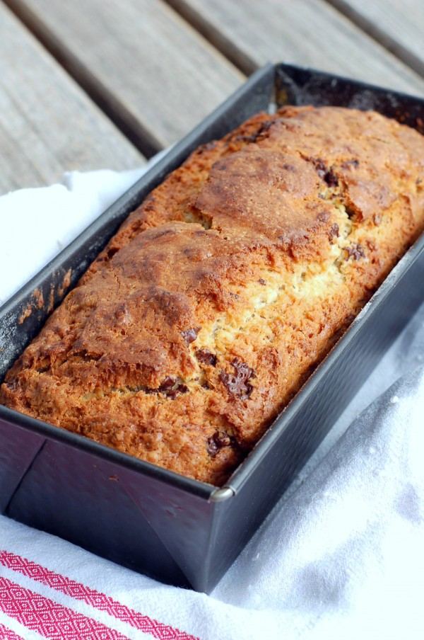 chocolate banana bread 600x904 Nutty chocolate banana bread