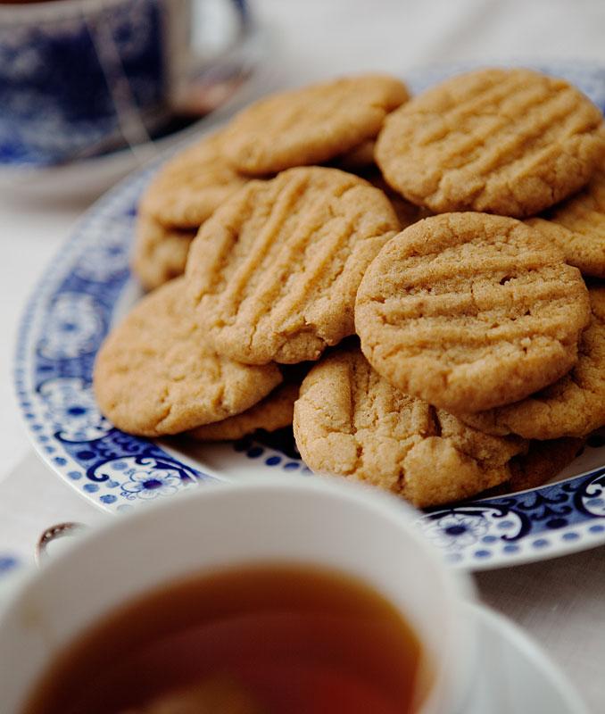 recept på sötsalta peanut butter cookies