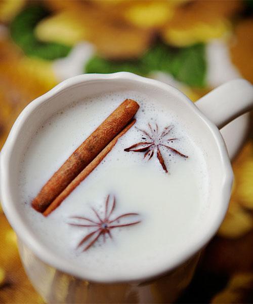 varm vit choklad