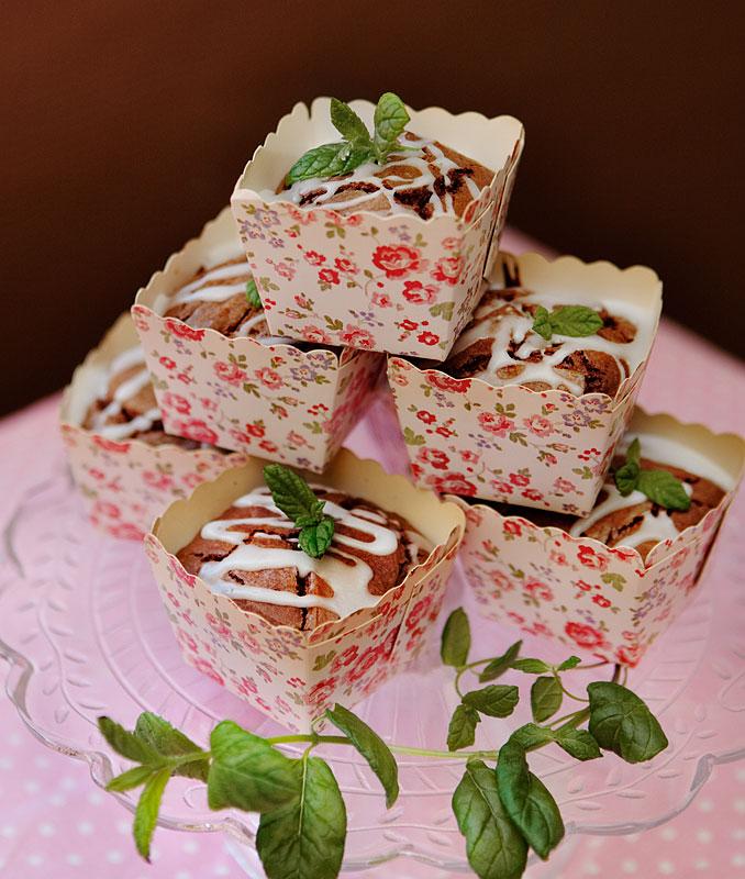 mintbrownies med choklad recept