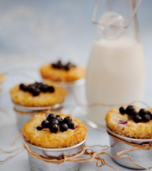 Havremuffins med blåbär