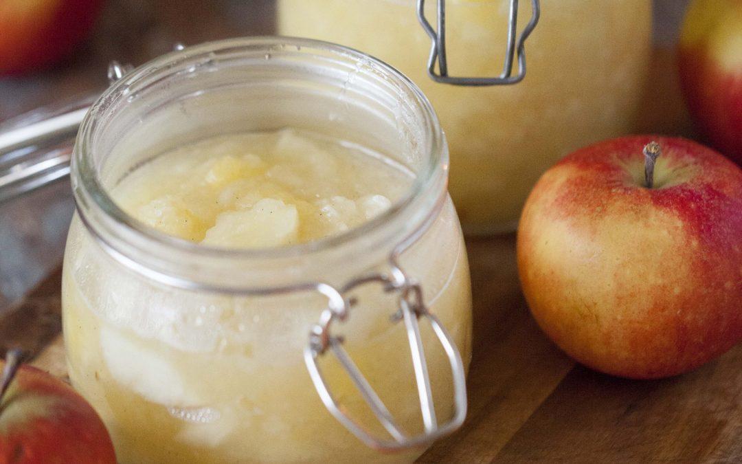 Äppelmos med bitar