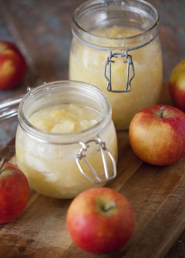 Äppelmos med bitar recept