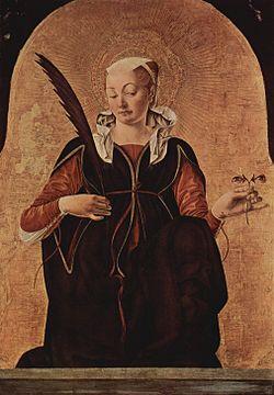Francesco del Cossas Lucia från 1437. Bild från Wikipedia.