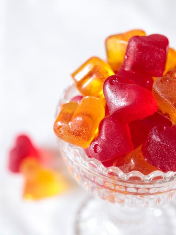 Geléhjärtan recept från söta saker