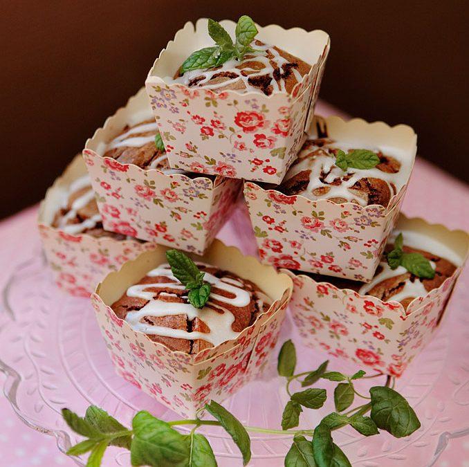 Choklad- och mintbrownies