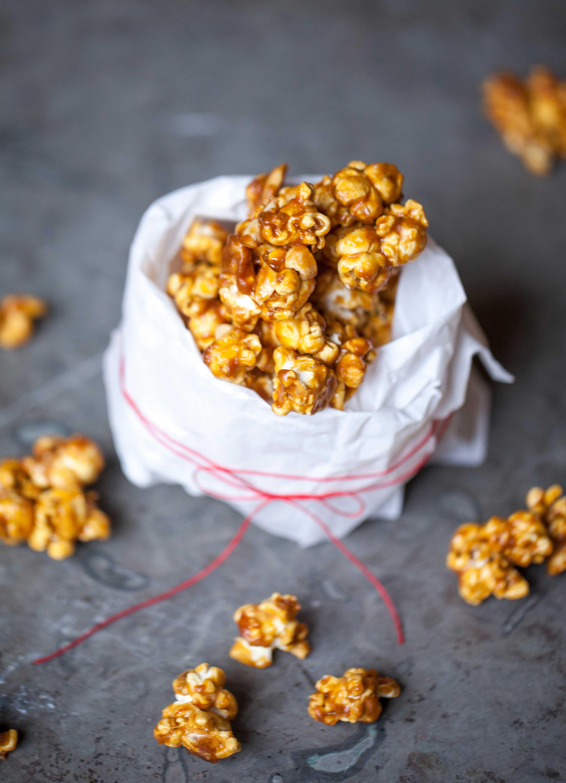 kanderade popcorn med choklad